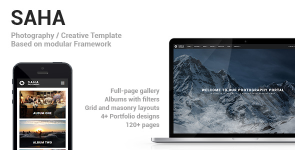 Saha – Photography / Creative Portfolio Template