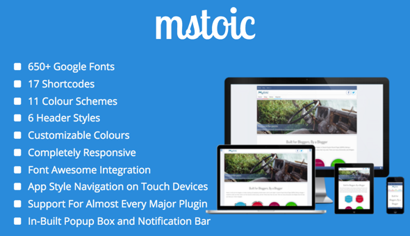 Mstoic – Responsive Blog Theme