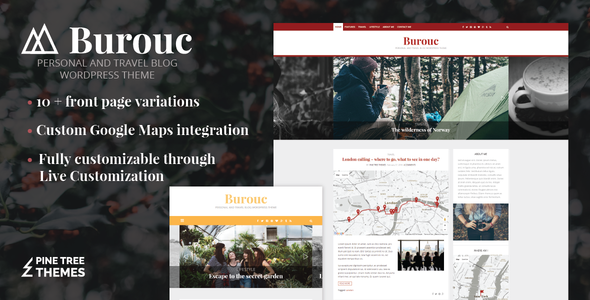 Burouc – Personal and Travel Blog WordPress Theme