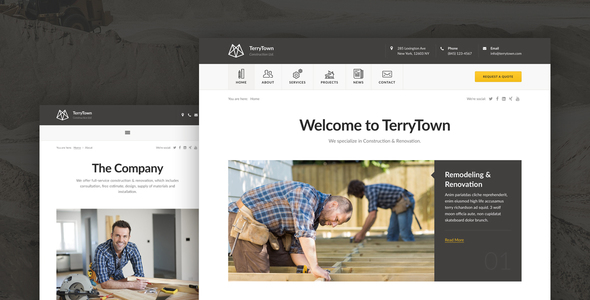 Terrytown – Construction & Renovation HTML5 Template