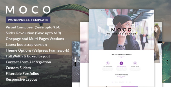 Moco – One Page WordPress Theme