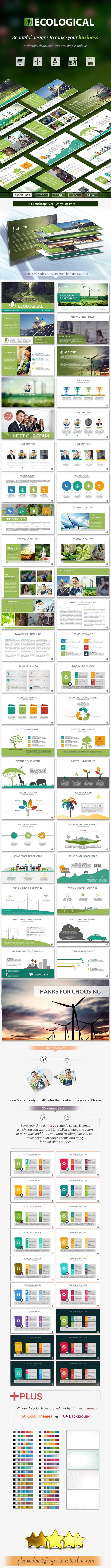 Ecological powerpoint presentation template by rengstudio ecological powerpoint presentation template nature powerpoint templates alramifo Choice Image