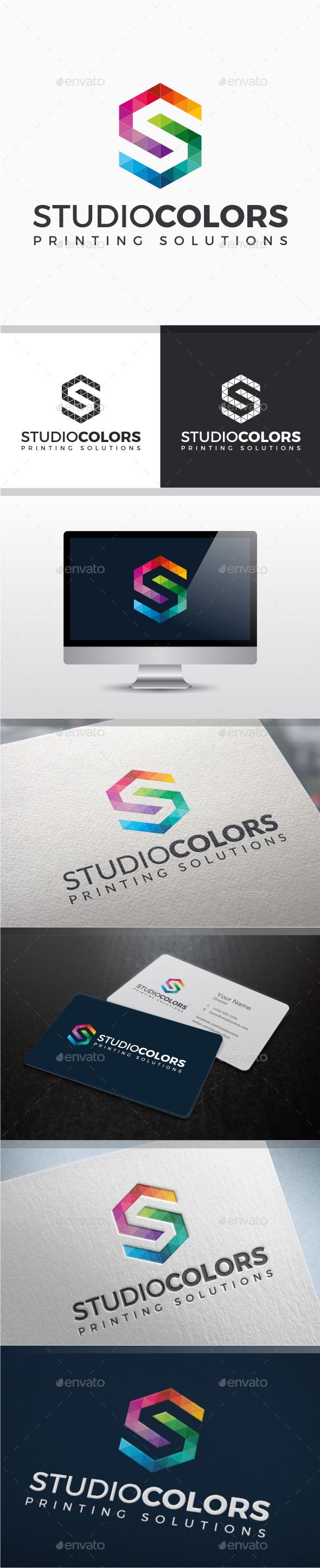 Studio Colors - Letter S Logo - Letters Logo Templates