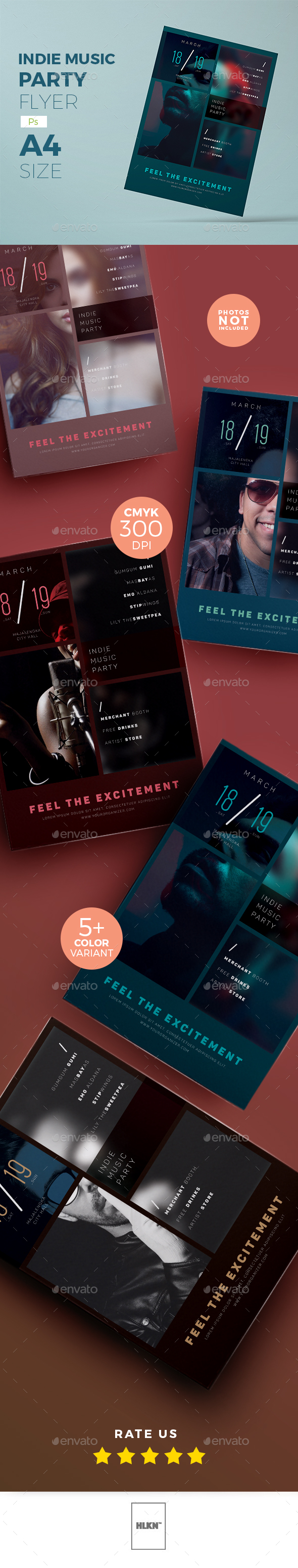 Indie Concert Flyer v.2 - Concerts Events