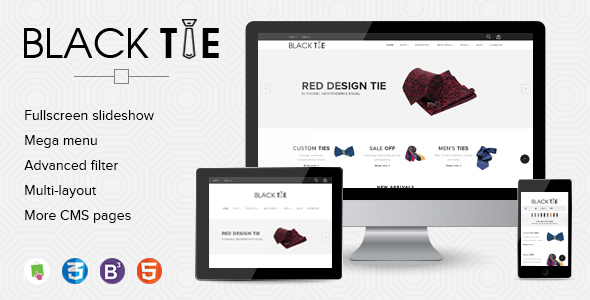 eCommerce Shopify Theme Men's Fashion Ties