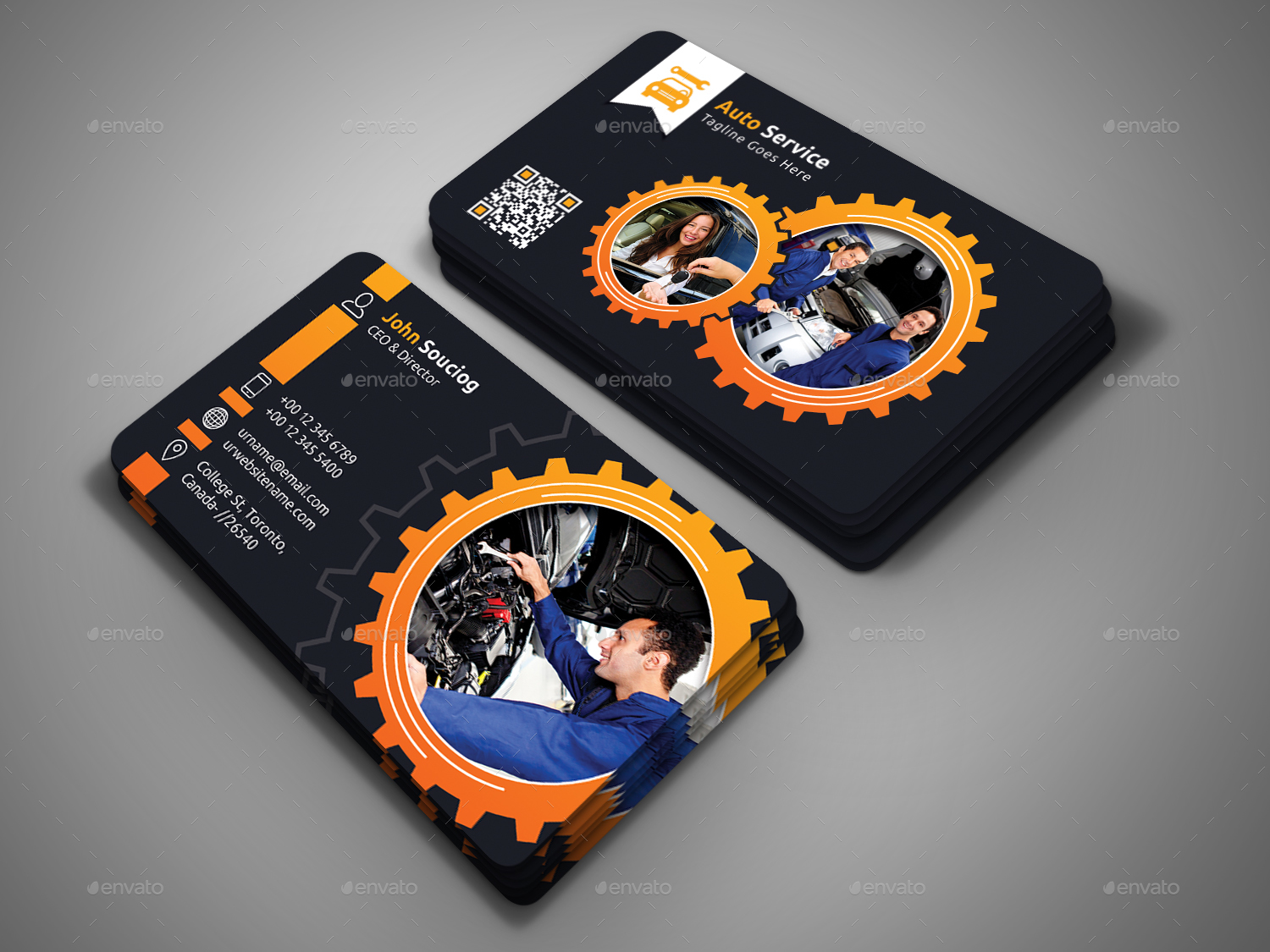 Auto service business card by designsign graphicriver auto service business card industry specific business cards 01 scg 02 reheart Choice Image