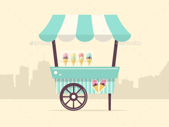 Ice Cream Cart By Bubble86 Graphicriver