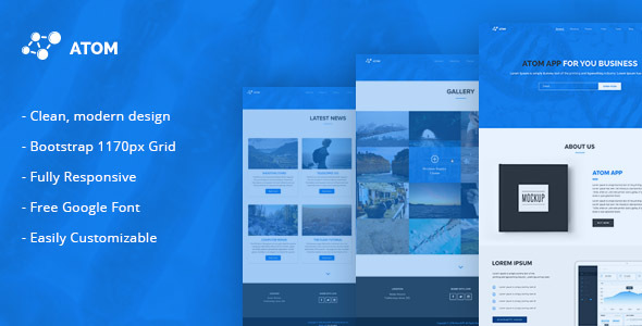 Atom - Multipurpose Responsive HTML5 Template - Corporate Site Templates