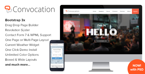 Convocation - Event and Conference WordPress Theme - Events Entertainment