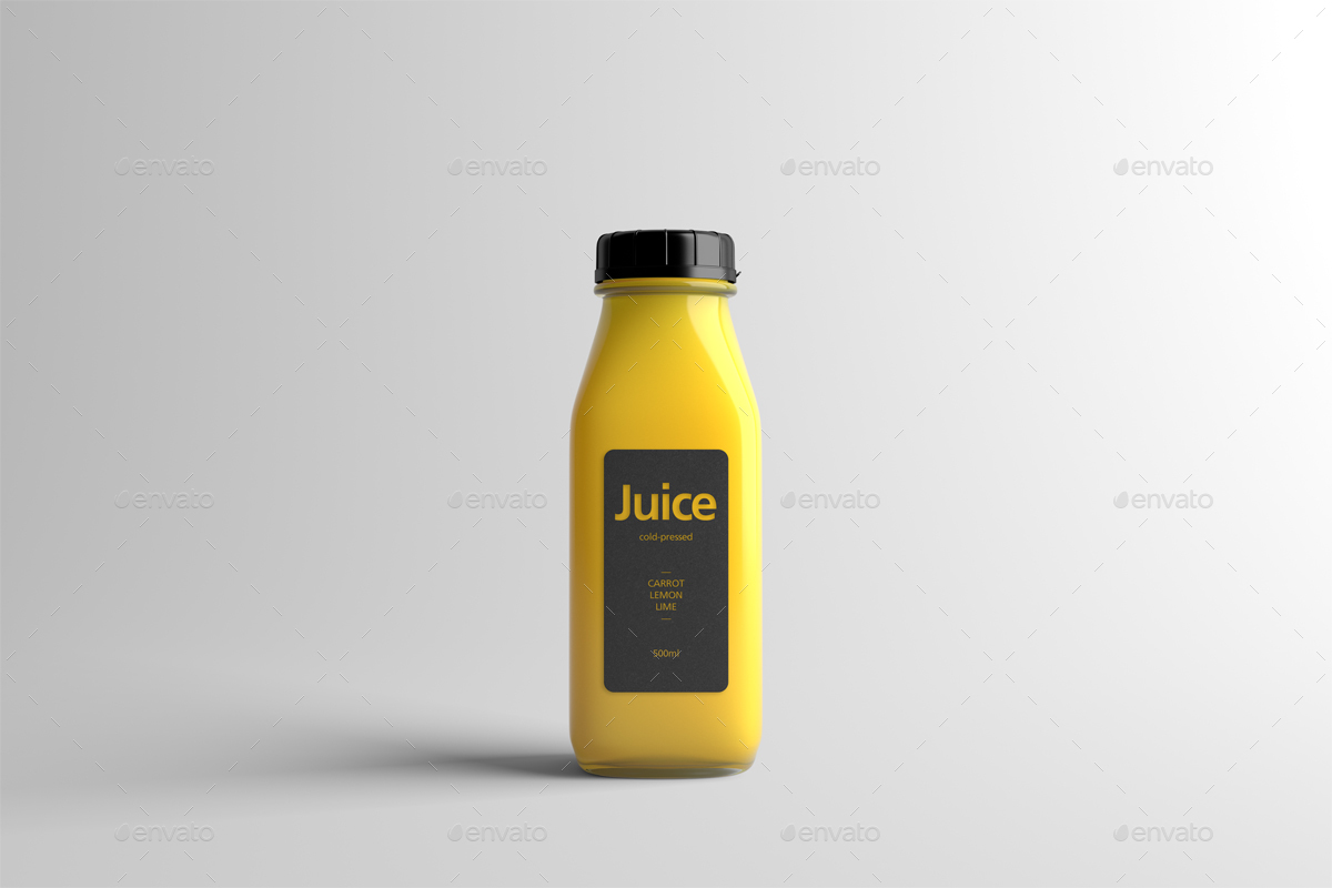 Juice Bottle Packaging Mock-Up by Zeisla   GraphicRiver