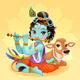 Baby Krishna with Sacred Cow - GraphicRiver Item for Sale