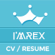 I'mRex - Material CV / Resume   - ThemeForest Item for Sale