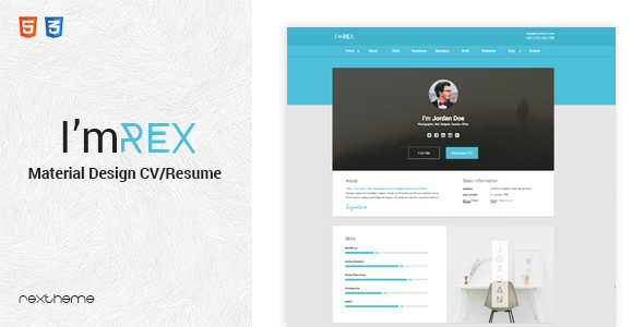 I'mRex - Material CV / Resume   - Resume / CV Specialty Pages