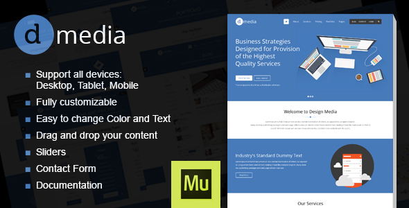 dMedia – Creative Multipurpose Muse Template