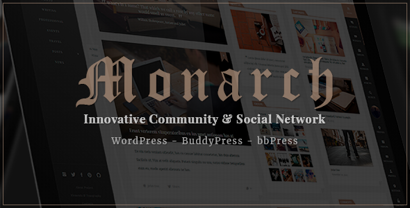 Monarch – Innovative WordPress Community Theme