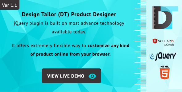 Design Tailor - Complete Custom Product Designer Plugin - CodeCanyon Item for Sale