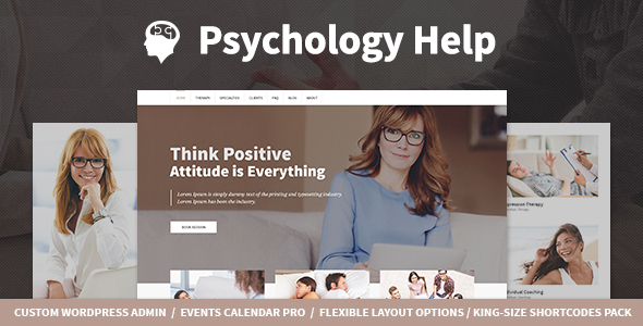 Psychology Help - Medical WordPress Theme for Psychologist and Mental Therapy - Health & Beauty Retail