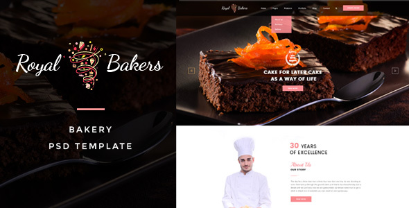 Royal Bakers – Cakery PSD Template
