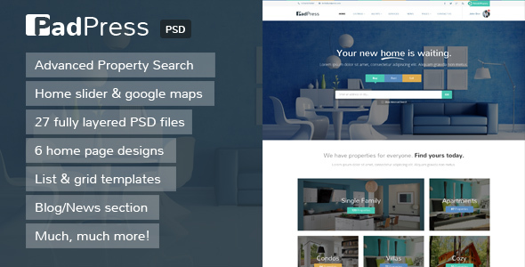 PadPress – Real Estate PSD Theme