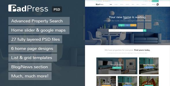 PadPress - Real Estate PSD Theme