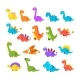 Cute Cartoon Dinosaurs Set - GraphicRiver Item for Sale