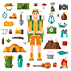 Hiking and Camping Set - GraphicRiver Item for Sale