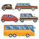 Auto Travel Car Collection - GraphicRiver Item for Sale