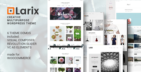 Larix - Creative Multipurpose WP theme - WooCommerce eCommerce
