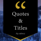 Quotes and Titles - VideoHive Item for Sale