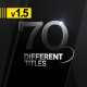 70 Different Titles - VideoHive Item for Sale