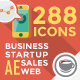 Business & Startup Flat Icons - VideoHive Item for Sale