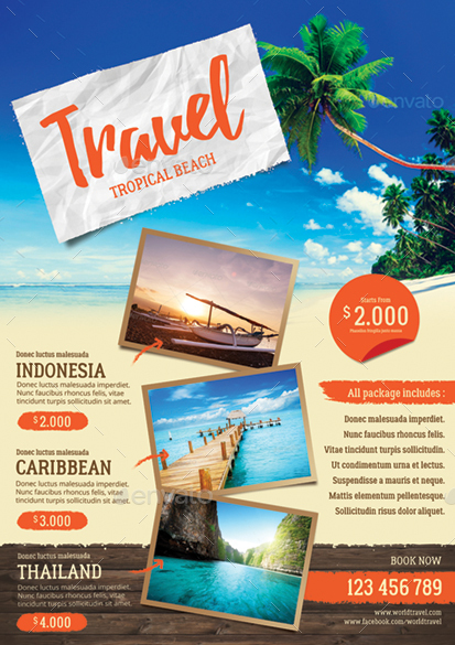 travel agency flyer by monggokerso