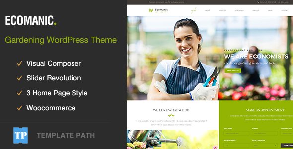 Ecomanic - Gardening, Lawn Care and Landscaping WordPress Theme - Business Corporate