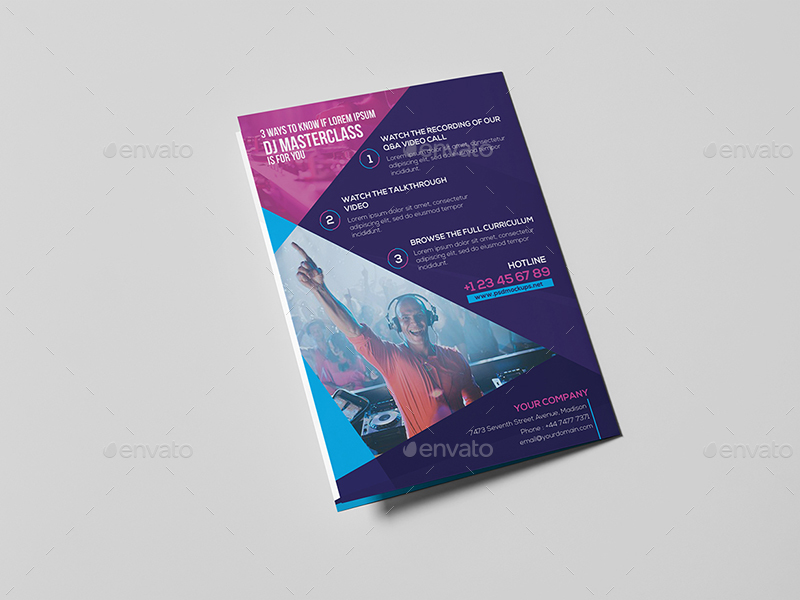 Dj A Brochure Template By Wutip  Graphicriver