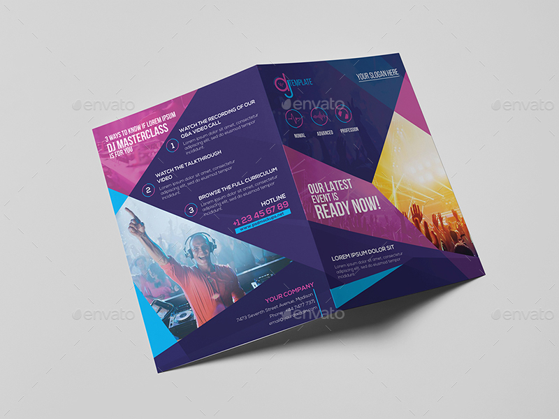 DJ A Brochure Template By Wutip GraphicRiver - A5 brochure template