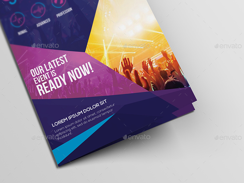 DJ/ A5 Brochure Template by wutip2 | GraphicRiver