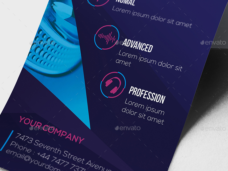Dj  Rack Card And Business Card Template By Wutip  Graphicriver