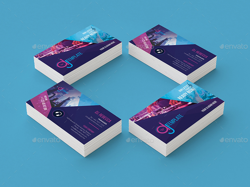 Dj rack card and business card template by wutip2 graphicriver and business card templateg flashek Images