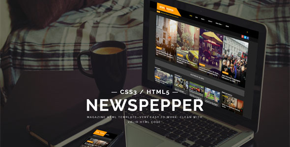 NewsPepper – Magazine HTML5 Template