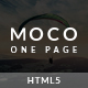 Moco - Creative One Page HTML5 Template - ThemeForest Item for Sale