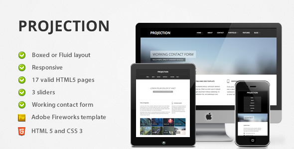 Free Download Projection - Responsive HTML5 Template Nulled Latest Version