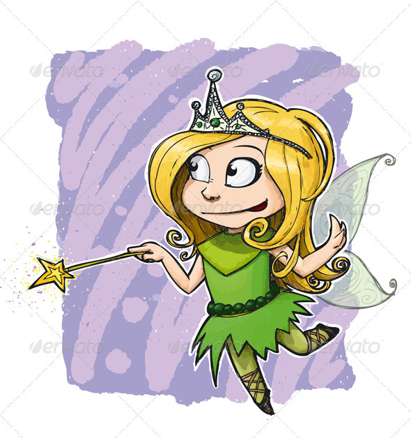 Little Fairy Girl - Characters Vectors