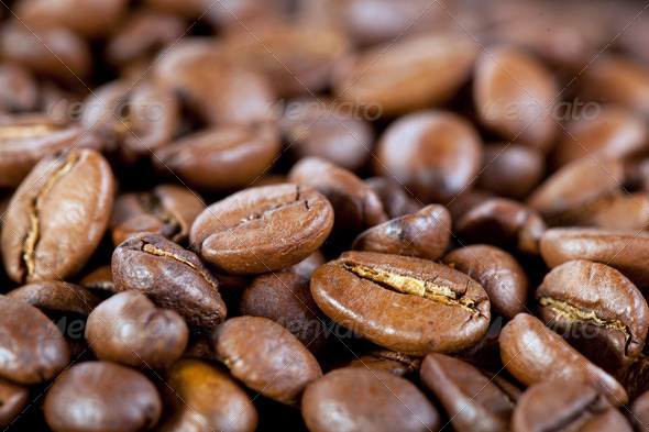background from coffee beans - Stock Photo - Images