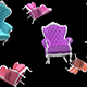 Background of Colored Chairs - VideoHive Item for Sale