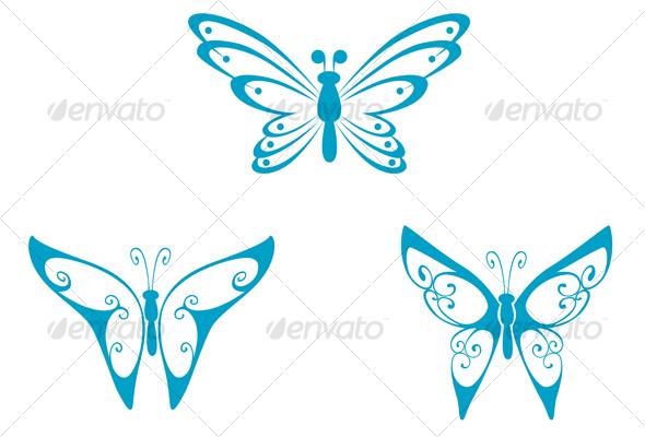Butterfly tattoo - Tattoos Vectors