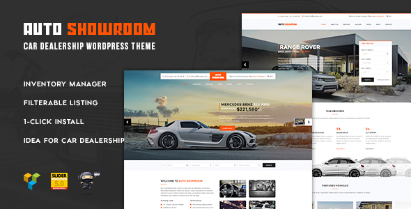 Auto Showroom – Car Dealership WordPress Theme