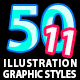 50 Illustrator Graphic Styles Vol.11 - GraphicRiver Item for Sale