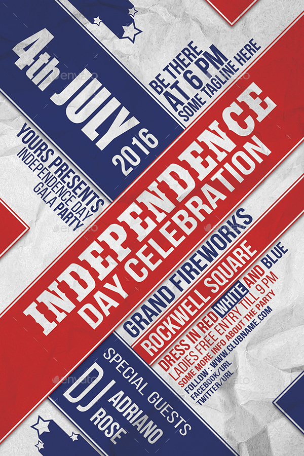 Th July Typography Flyer Ver By Indworks  Graphicriver