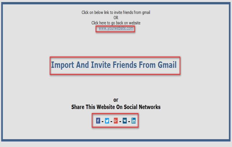 Import and invite gmail contacts addon for sngine by prashantre screenshots1 import and invite gmail contacts and share website on facebookg stopboris Images