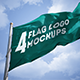 4 Photorealistic Flag Logo Mockups - GraphicRiver Item for Sale
